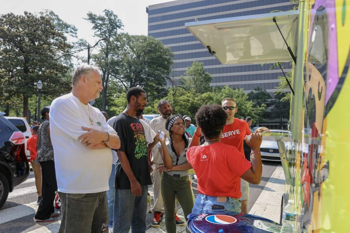 Local family behind Wasabi Juan's debuts food truck, feeds homeless community in Linn Park