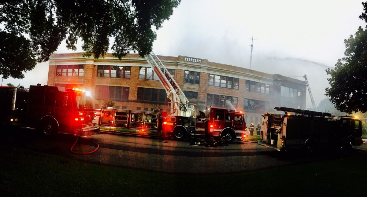 Former Ensley High School severely damaged by morning fire