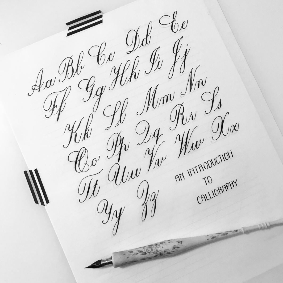 Intro to Calligraphy