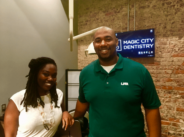Magic City Dentistry in downtown Birmingham. It's easy on your eyes, easy in the chair and easy on your wallet.
