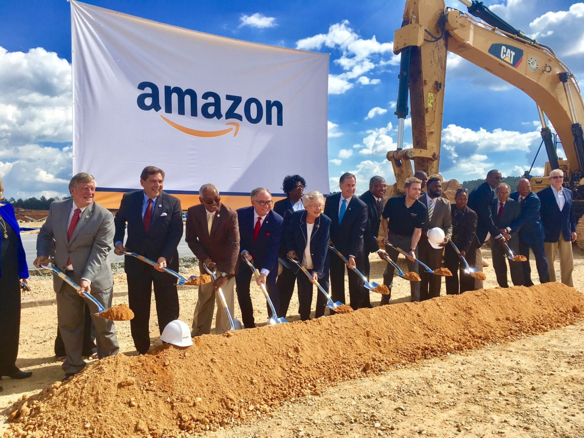 Amazon in Bessemer. A ground-breaking and a pay raise all on the same day