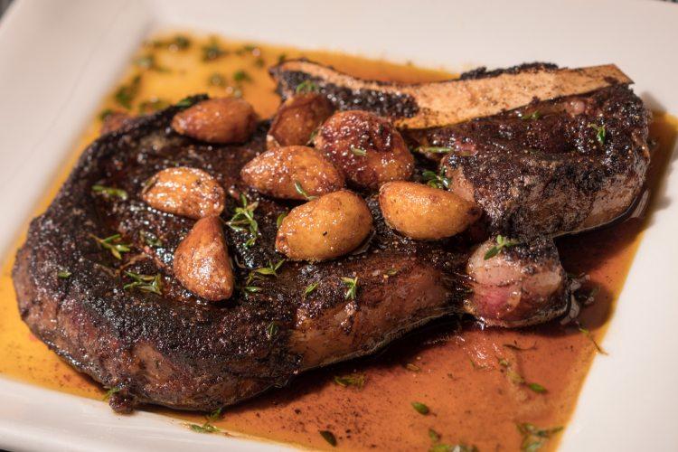 Birmingham, Alabama, Perry's Steakhouse & Grille, off-the-menu Bison Cowboy Chop