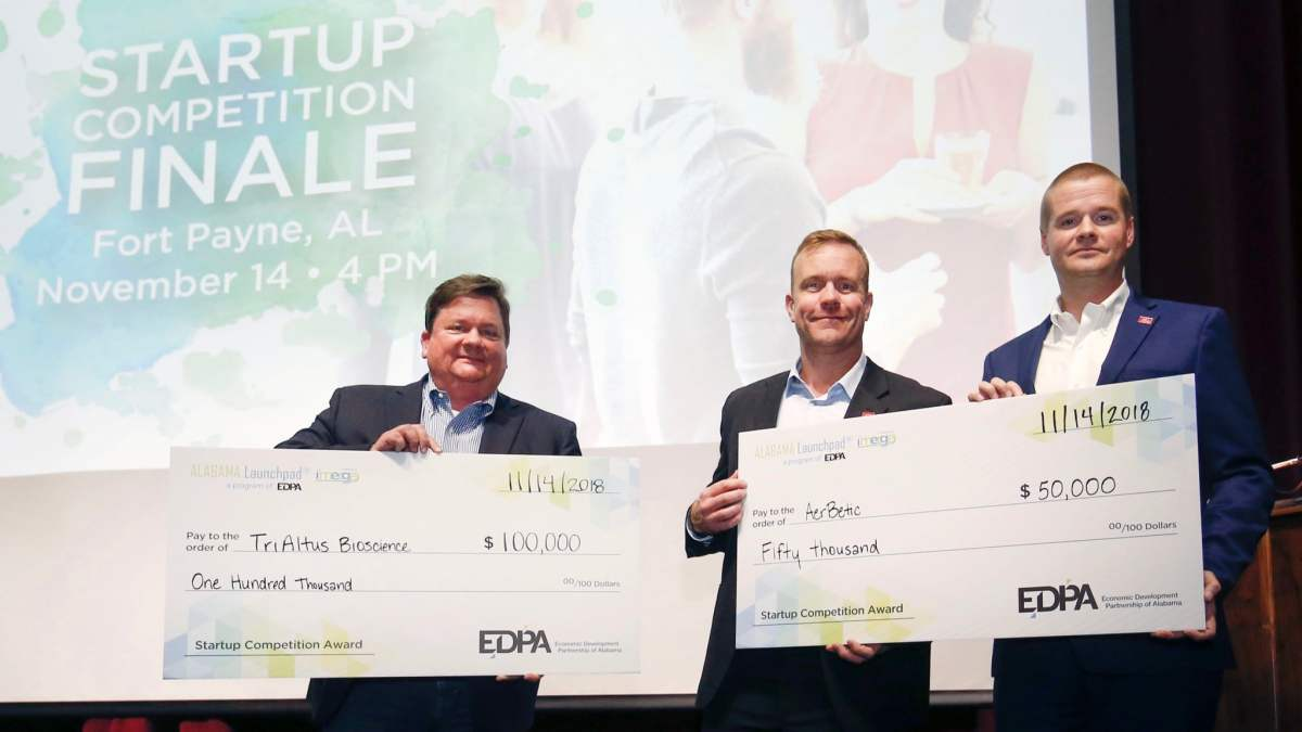 TriAltus Bioscience and AerBetic of Birmingham win $150,000 total at Alabama Launchpad competition