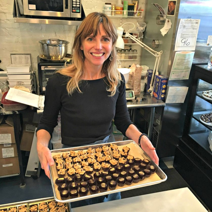 Kathy d'Agostino of Chocolatá hard at work. She offered a marshmallow recipe for our feature on bonfire fare to make your Fall more festive.