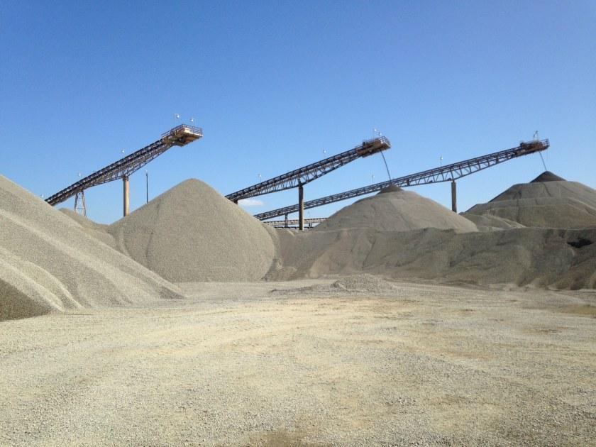 Birmingham, Alabama, Vulcan Materials Company, quarry stockpile