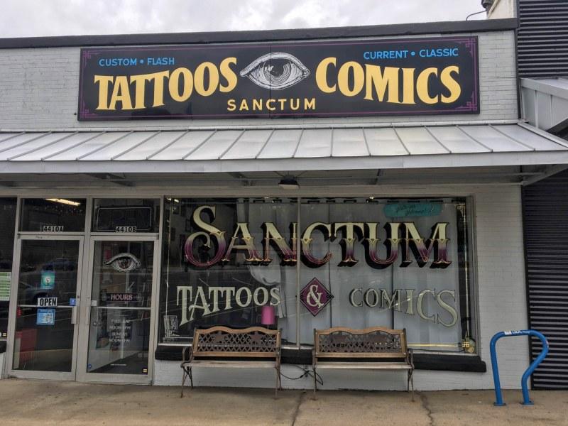 Sanctum Tattos is Rebecca's favorite tattoo parlor.