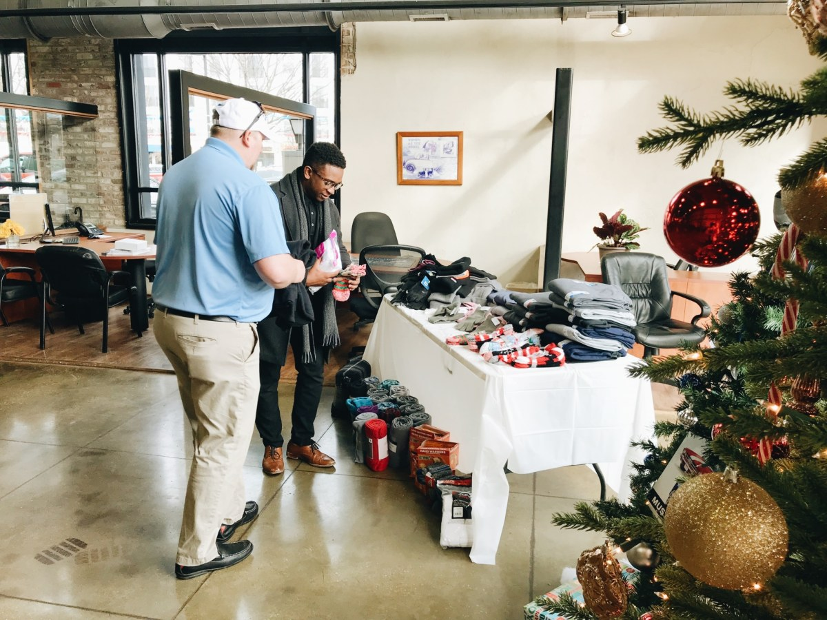 Adamson Ford donates goods to help keep the homeless in Birmingham warm this holiday season