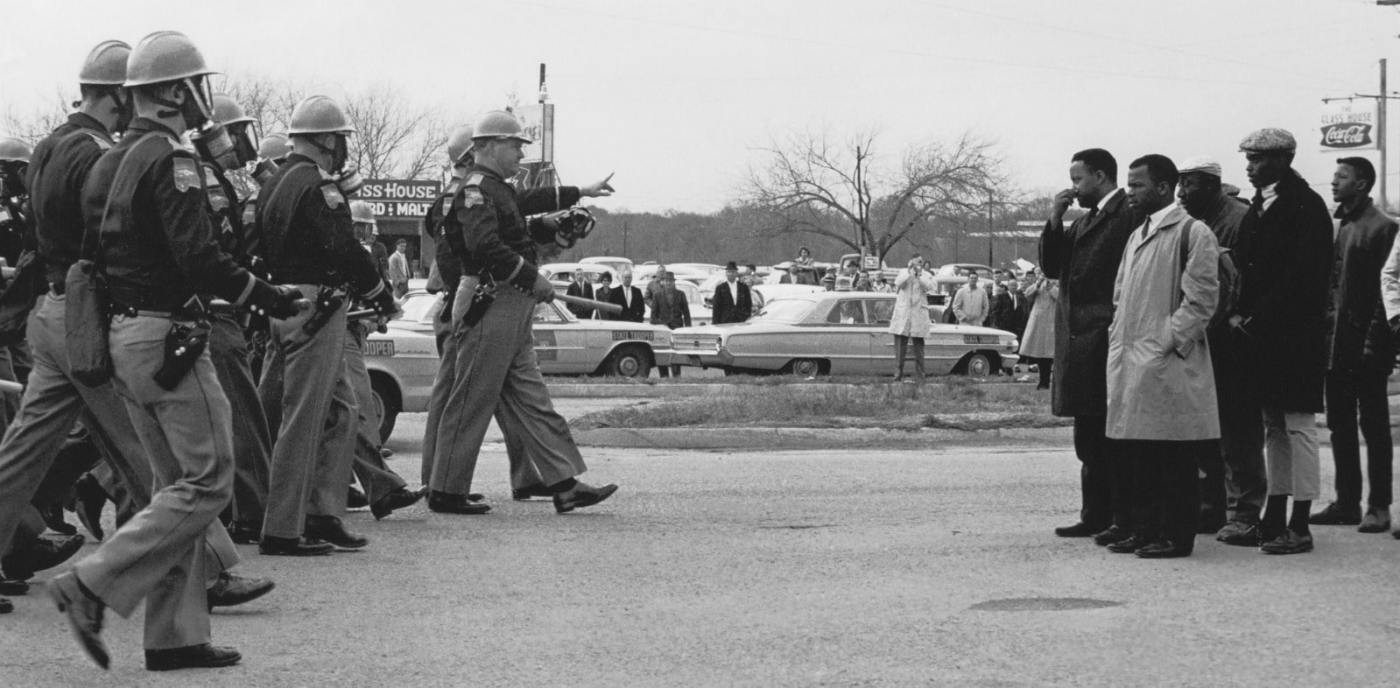 Archival footage from the 1965 Selma to Montgomery march. Giles walked the entire route as part of his bid to become Attorney General.