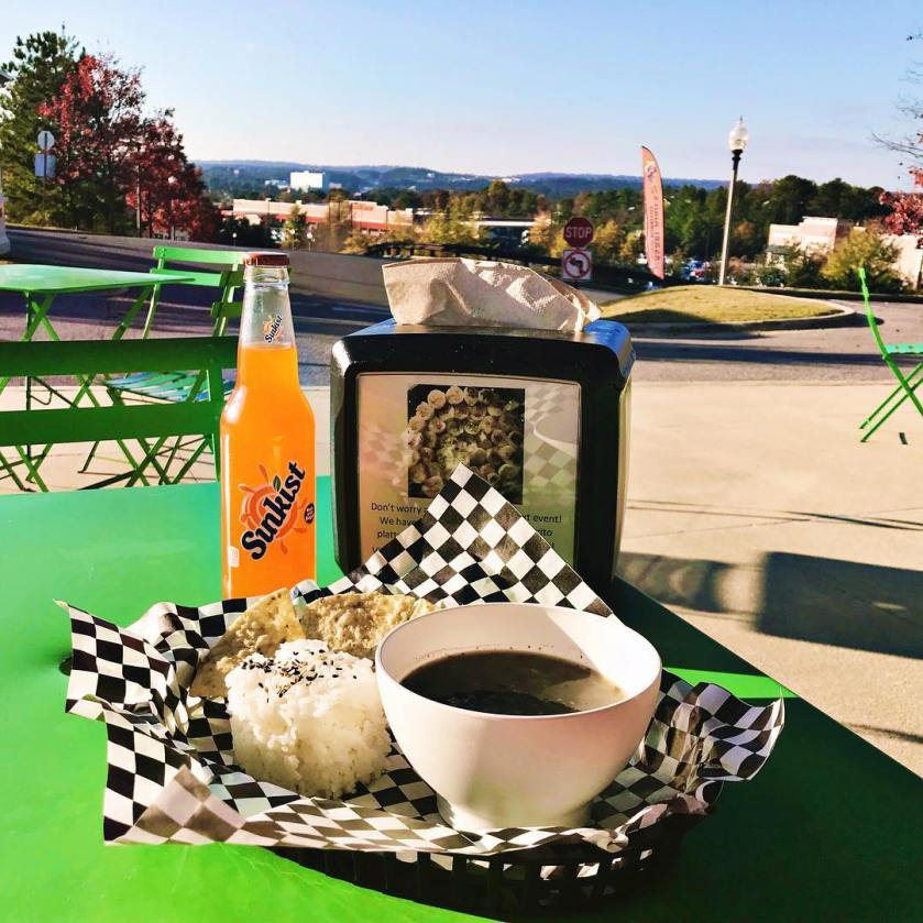 Birmingham, Alabama, find Wasabi Juan's, Highway 280, Hwy 280, food, black beans, vista