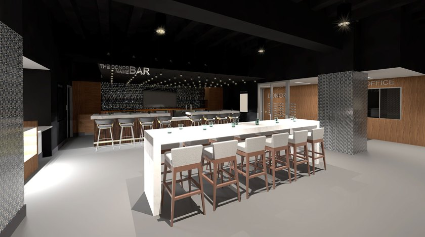 The Sidewalk Cinema bar will be 24 feet long and will have wine, craft beer, and cocktail options. (Photo via Sidewalk)
