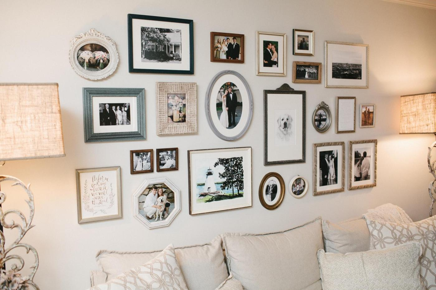 An arranged gallery wall.