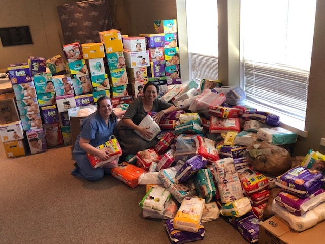 A Birmingham nonprofit sets up a drive to donate diapers.