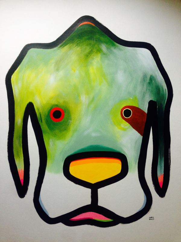 "Chris Davis is one of 5 Birmingham artists you want to get to know. Here's a piece he calls ""Mossy Dog"""