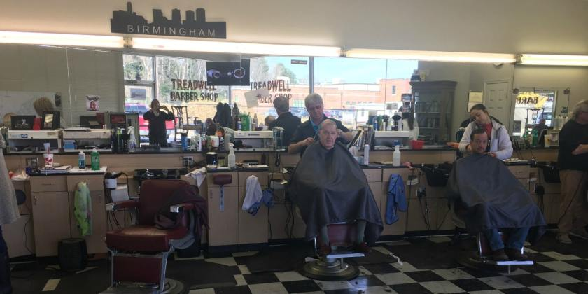 Treadwell's in Mountain Brook Village is a Birmingham barbershop