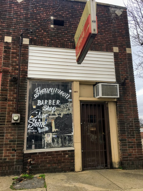 Honeymoon Barber Shop is one of the places where men gather in North Birmingham.