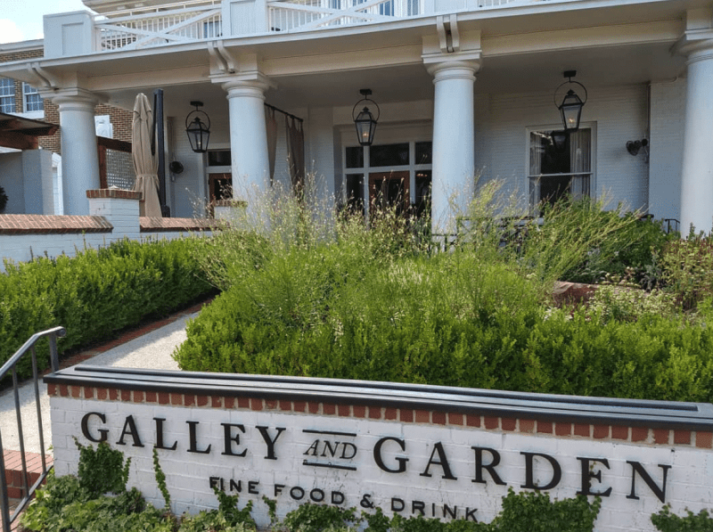 The entrance at Galley and Garden. (Photo via Gallery and Garden Instagram)