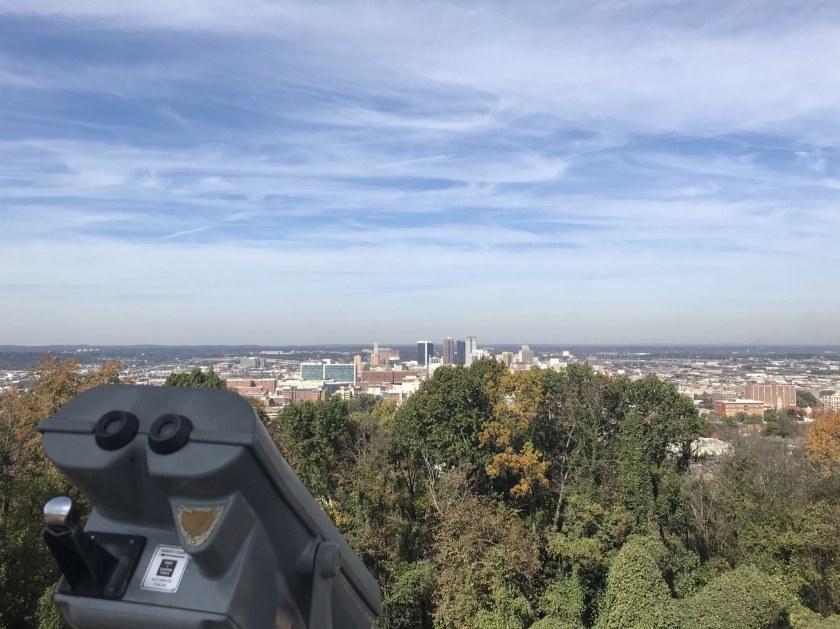 Birmingham, Alabama, Vulcan Park, downtown Birmingham view