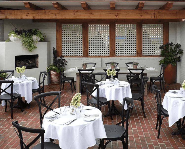 The patio at Galley and Garden. (Photo via Gallery and Garden Instagram)