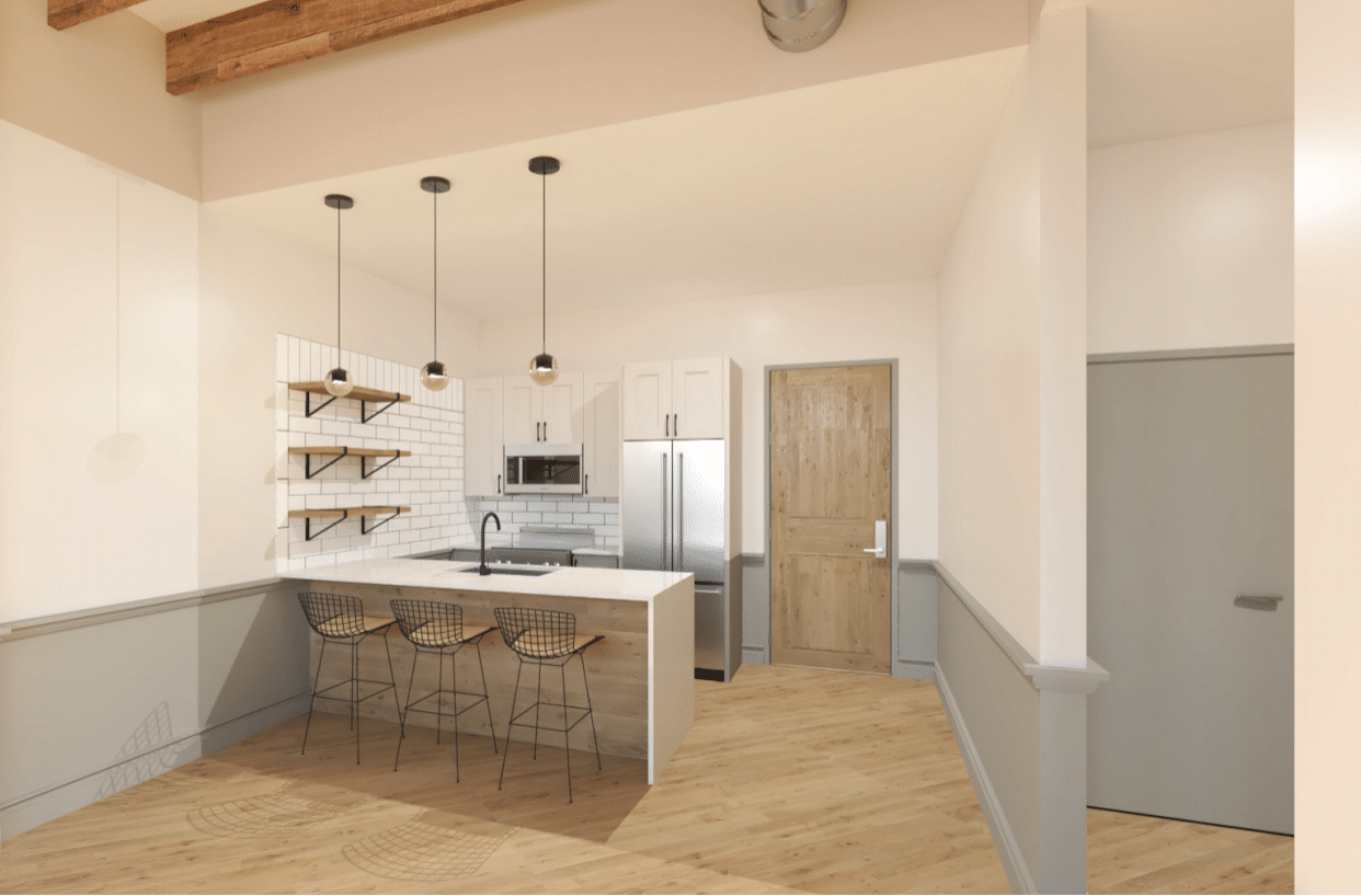Look at the clean lines and bright space in this Mercantile on Morris rendering. Swoon. One of the advantages to buying while in the current construction phase is the ability to choose your own finishes.
