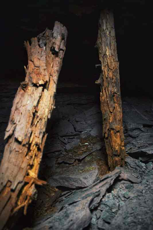 Underground Birmingham captured these 140 year old timber supports holding up the roof of one of the sites they visited.