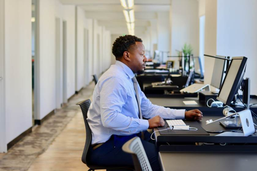 Stanley Stevenson, with his newfound full-time entrepreneur status, will soon upgrade his nights and weekend package with Forge to the 24/7 access package, so he's able to work from the downtown co-working space anytime.