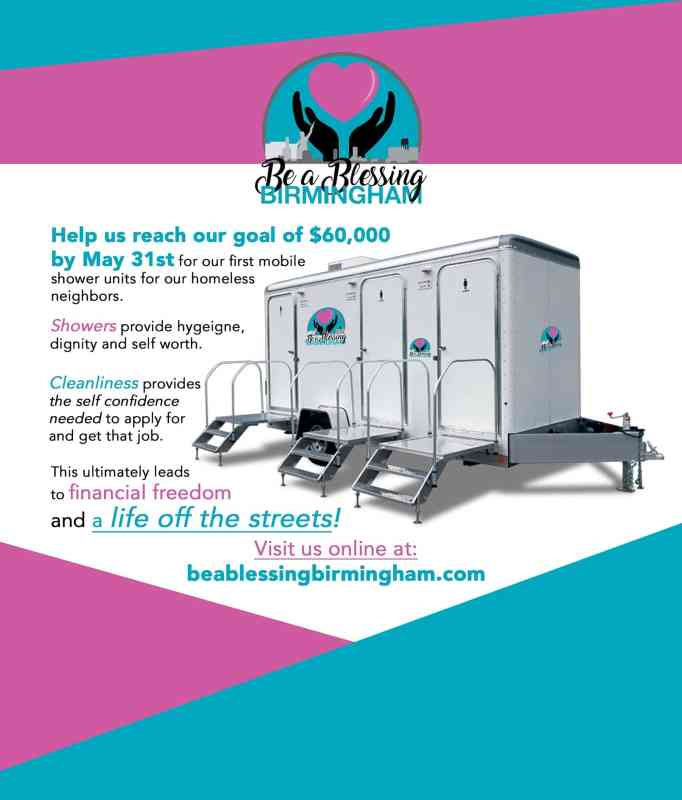 The #ShowerPower campaign aims to bring mobile showers to Birmingham.