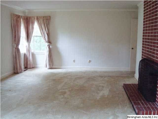 Birmingham, Alabama, Bluff Park, before photo, living room