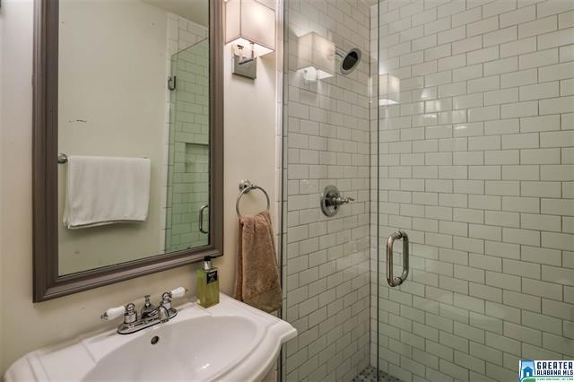 Birmingham, Alabama, Bluff Park, home makeover, house renovation, after photo, guest/hall bath