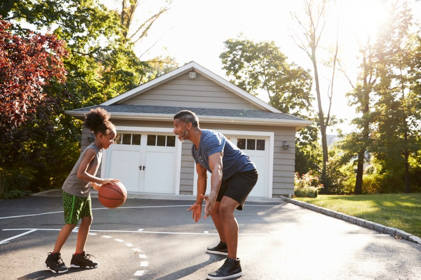 Prevent skinned knees on your home court by raising any cracked, unleveled concrete!