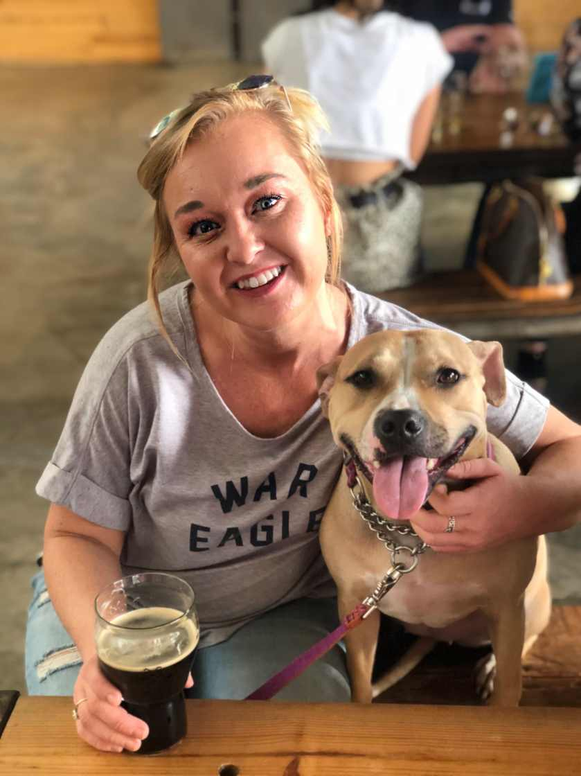 Hilary and Beverly enjoying a day at the brewery.