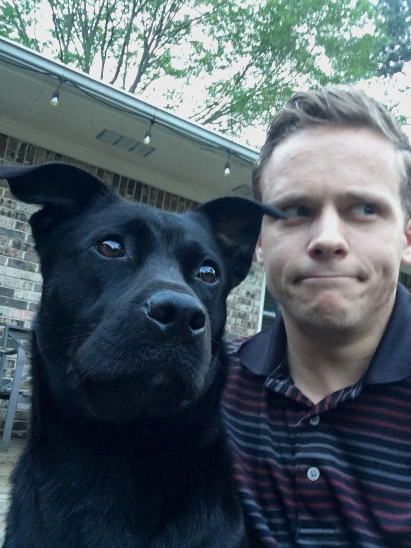 Wade and his doggo, Millie.