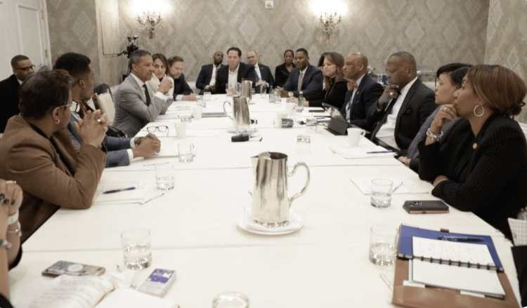 Chuck Faush of THE YARD, HBCU leaders and other stakeholders at a U.S. Conference of Mayors roundtable in January 2019