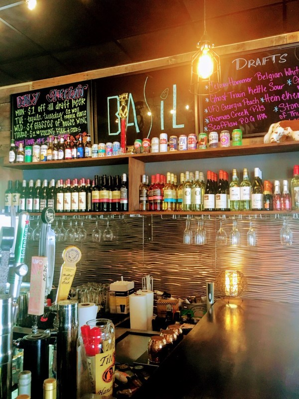 Basil Pizza and Bar is a popular spot in Birmingham's Crestline neighborhood for eating and drinking.