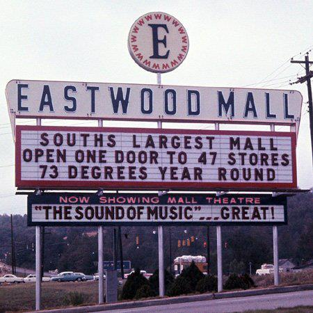 Eastwood Mall was one of the main features of Birmingham's Crestline community's Eastwood neighborhood, back in the day.