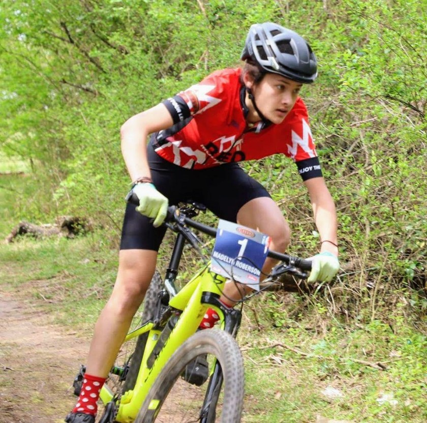 Madelyn Roberson is one of the champions of female competitive high school mountain biking.