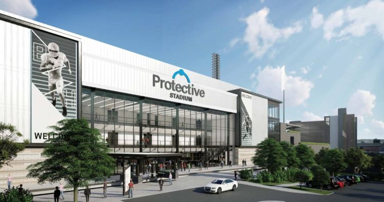 Protective Stadium rendering released at the stadium name unveiling Thursday, April 11.