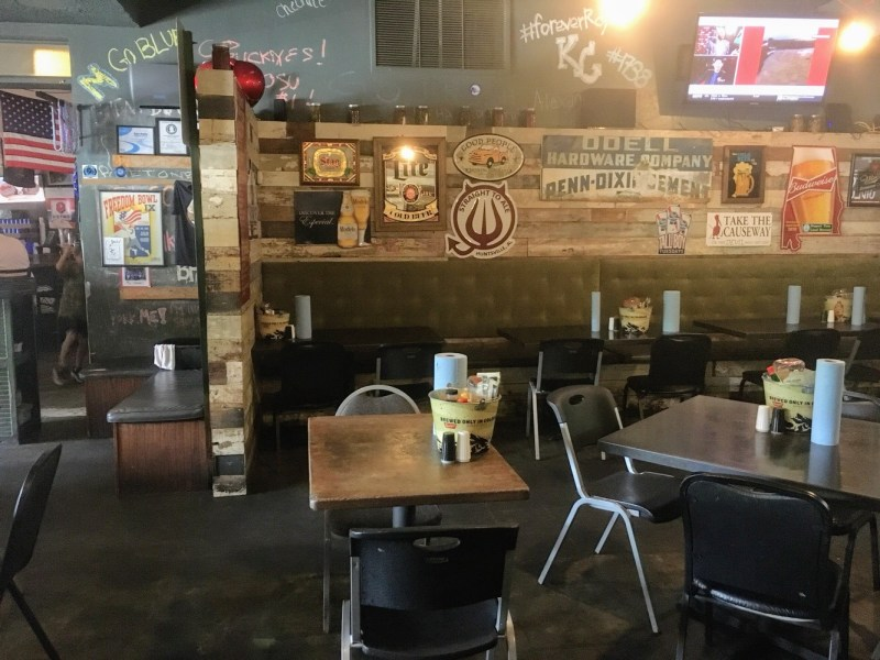 Saw's Juke Joint is a popular spot for eating and drinking in Birmingham's Crestline community.