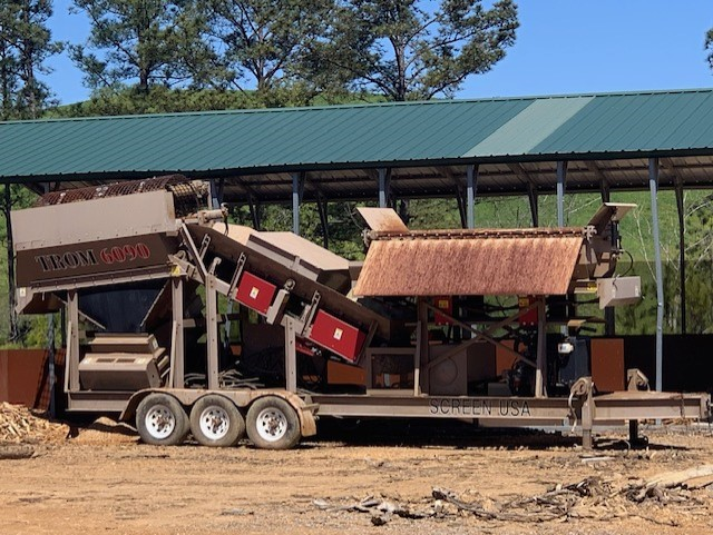 The wood chipper at Southern Organics Raburn uses to chop up the wood he gets from the landfill next door. (Photo submitted)