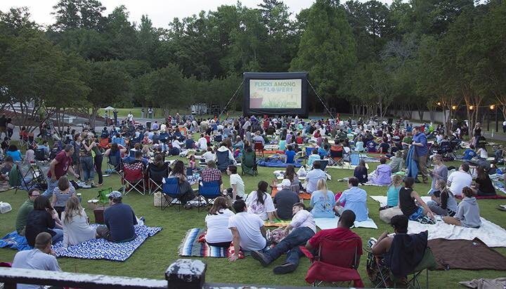 Birmingham, Birmingham Botanical Gardens, movies, summer