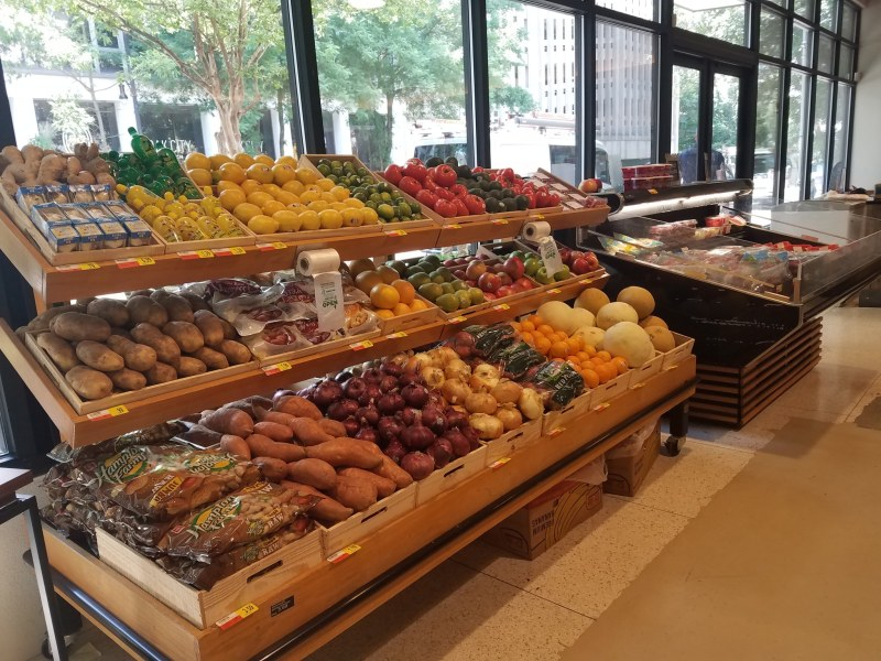 Harvest Market downtown features fresh, local produce.