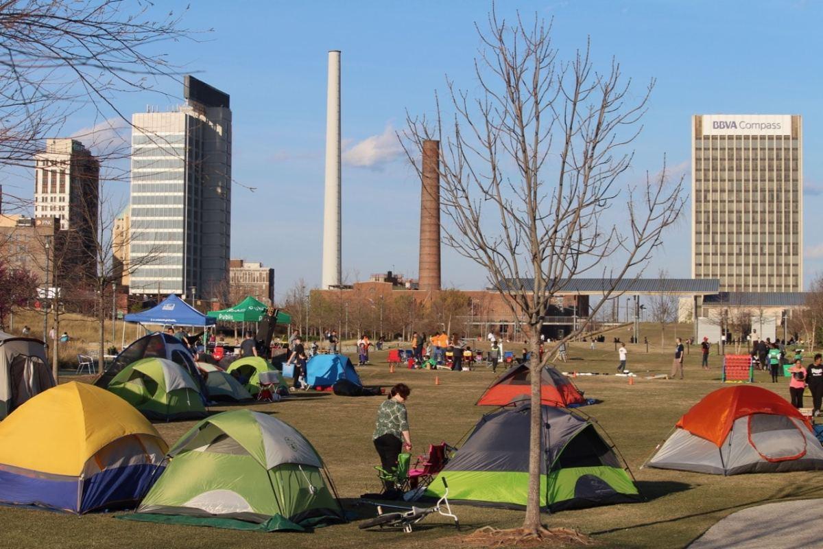 Publix Family Camp Out Railroad Park