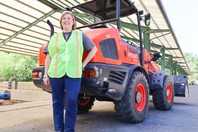 Meet Brenda White, former retail worker and current apprentice at Jefferson County's Environmental Services Department. Photo by Christine Hull for Bham Now