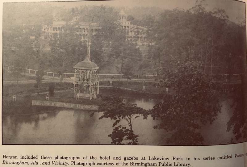 Lakeview Park, Lake and hotel in the 1890s