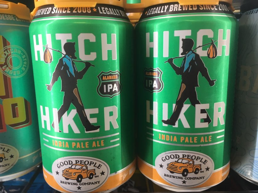 Good People Hitch hiker beer can