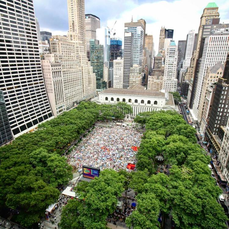 A photo of Bryant Park in NYC - this is part of the inspiration for what CityWalk BHM could become.