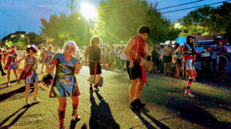 Birmingham Disco Amigos at a parade.