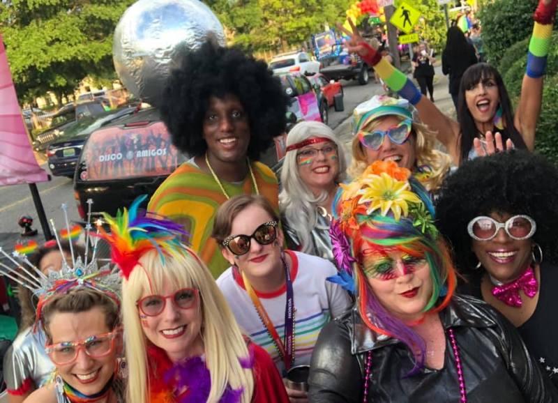 Birmingham Disco Amigos at Pride.