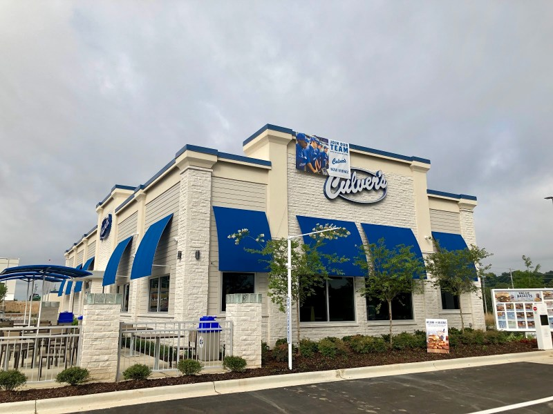 Culver's Restaurant at Stadium Trace Village, Hoover, AL.