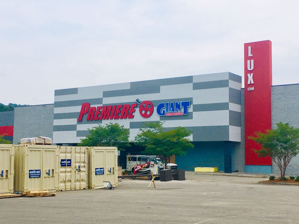'Largest screen in the south' at Premiere Lux Cinema on Lakeshore Parkway. Opening this summer.