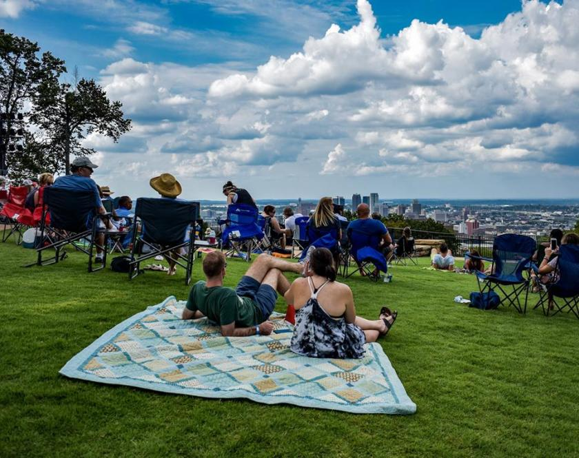 July 4 Fireworks at Vulcan Park and Museum. Birmingham, Alabama. Museum and Park open until 6pm on July 4.